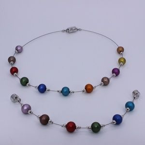 Colorful Necklace / Bracelet Set with magnet clasp